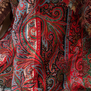 Two Kashmir Textiles and a Printed Cotton Textile