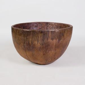 Large African Carved Hardwood Bowl