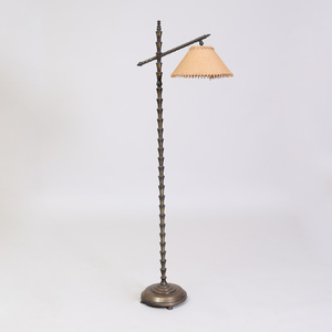Modern Bronze Faux Bamboo Floor Lamp