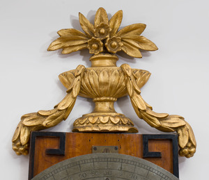 German Neoclassical Brass-Mounted Mahogany and Parcel-Gilt Regulateur