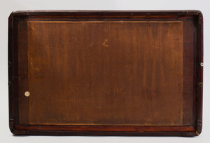 Chinese Export Pewter-Mounted Hardwood Tray