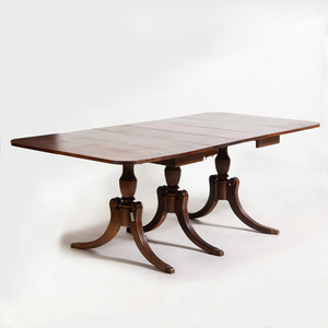 Regency Style Mahogany Extension Dining Table
