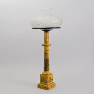 French Yellow Tôle Peinte Lamp