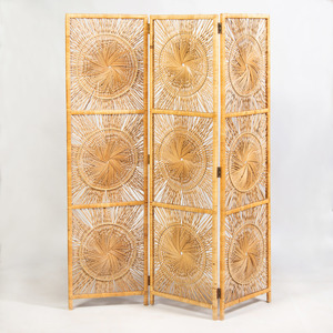 Wicker Nine-Panel Screen