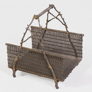 English Cast-Iron and Metal Kindling Basket