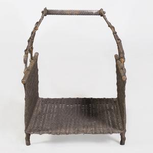 English Cast-Iron and Metal Kindling Basket