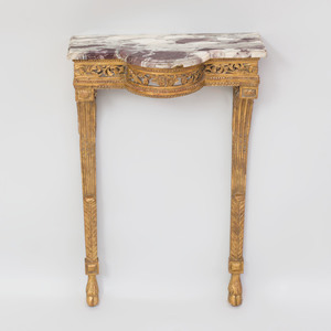 Small Louis XVI Style Giltwood Console