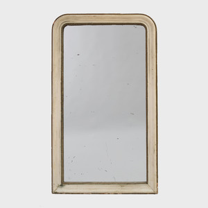 Victorian Cream Painted and Parcel-Gilt Mirror