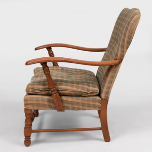 Stained Wood Armchair