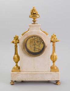 Fine Louis XVI Ormolu-Mounted Marble Mantle Clock