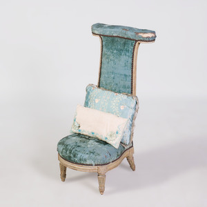 Louis XVI Grey Painted Prie Dieu