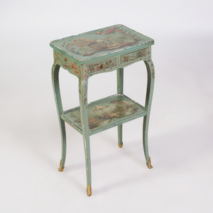 Louis XV Style Ormolu-Mounted Green Painted Table à Écrire