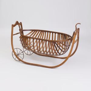 Thonet Style Bentwood Oak Cradle