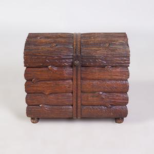 English Faux Bois Hinged Box