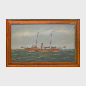 Thomas Willis (1850-1925): Yacht on the Sea