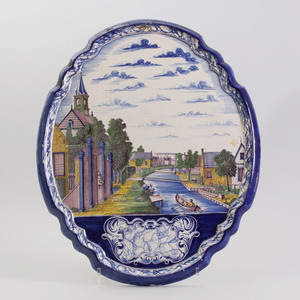 Pair of Dutch Delft Pottery Wall Plaques