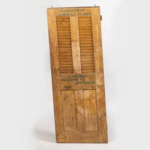 American Wooden Door from the Schooner Admiral Blake