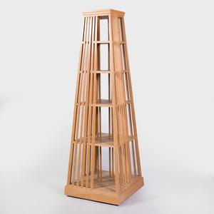 Modern Teak Trapezoidal Swivel Bookcase, Designed by Alexis de la Falaise