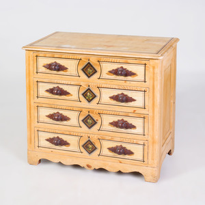 American Painted Cottage Chest of Drawers