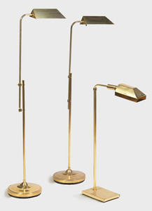 Pair of Brass Adjustable Reading Lamps, Alsy