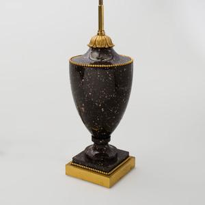 Swedish Neoclassical Gilt-Metal-Mounted Porphyry Vase