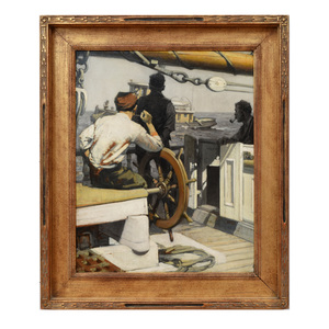 Attributed to William J. Aylard (1875-1956): At the Helm
