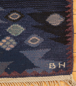 Fine Swedish Flatweave Carpet, signed Märta Måås-Fjetterström and BH