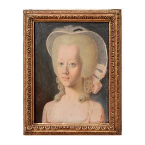 Continental School: Portrait of a Little Girl in a Bonnet