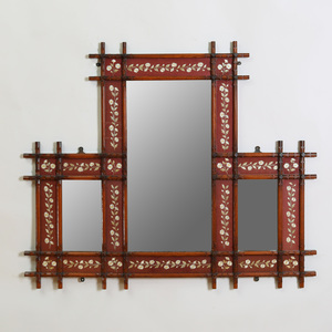 Victorian Style Twig-Form and Needlework Mirror