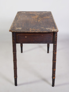 Victorian Faux Bois Painted and Stenciled Desk
