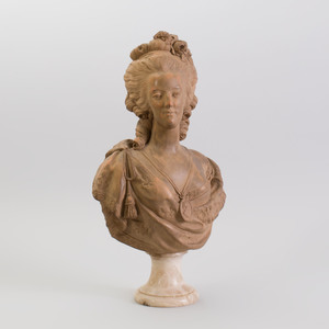 Louis XVI Style Terracotta Bust of Marie Antoinette, After F. Lecomte