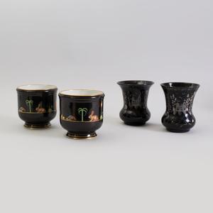 Pair of Tiffany Porcelain Cache Pots