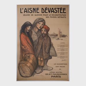 Théophile Aldexandre Steinlen (1859-1923): L'Aisne Dévastée