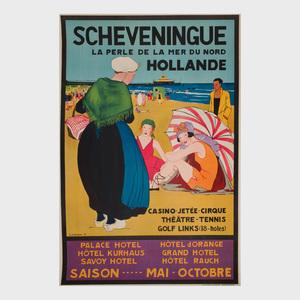 Jemmy Van Hoboken (1900-1962): Scheveningue, Holland