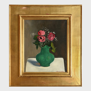 Henryk Berlewi (1894-1967): Les Roses Dans un Vase Vert