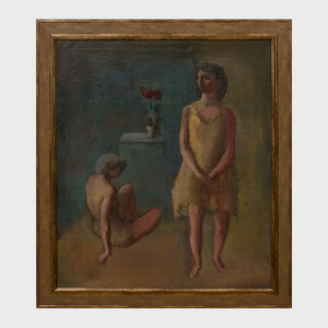 Earl Kerkam (1892-1965): Two Figures in an Interior