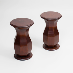 Pair of Victorian Style Mahogany Side Tables