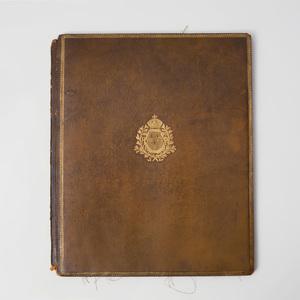 Leather Portfolio Embossed with Fleur de Lis