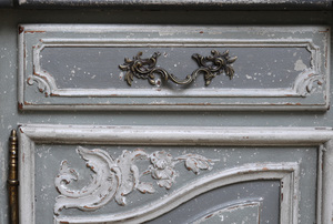 French Louis XV Style Painted Wood Enfilade