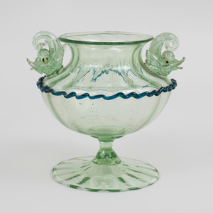 Group of Venetian Cranberry and Internally Decorated Glass Stemwares and Tablewares