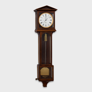 Austrian Fruitwood Inlaid Mahogany Regulator Clock