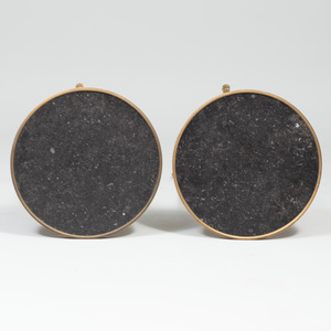 Pair of Directoire Style Gilt-Bronze and Fossilized Marble Mounted Circular Guèridons