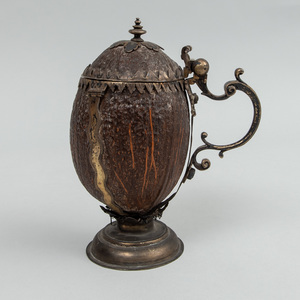 German Late Medieval Style Gilt-Brass-Mounted Coconut Shell Tankard