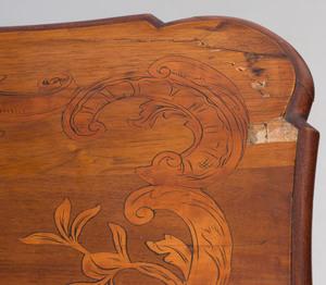 Austrian Inlaid Walnut Table