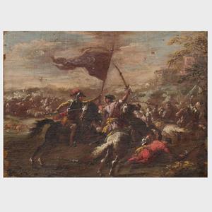 Attributed to Francesco Graziani (1680-1730): Battle Scene