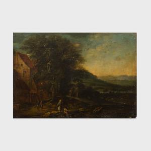 Attributed to Lucas Van Valckenborch (c. 1535-1597): Landscape