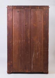 Biedemeier Inlaid Cherry Vitrine Cabinet