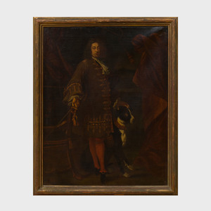 Attributed to John Baptist Closterman (1660-1711): Courtier with His Dog