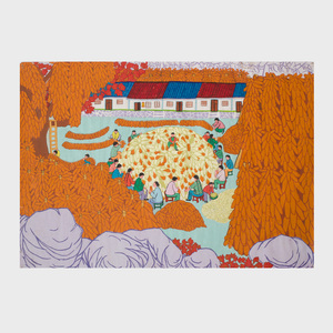 Chinese School (20th Century): Harvesting Fruit