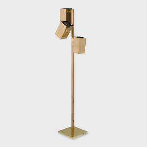 Koch and Lowy Brass Floor Lamp